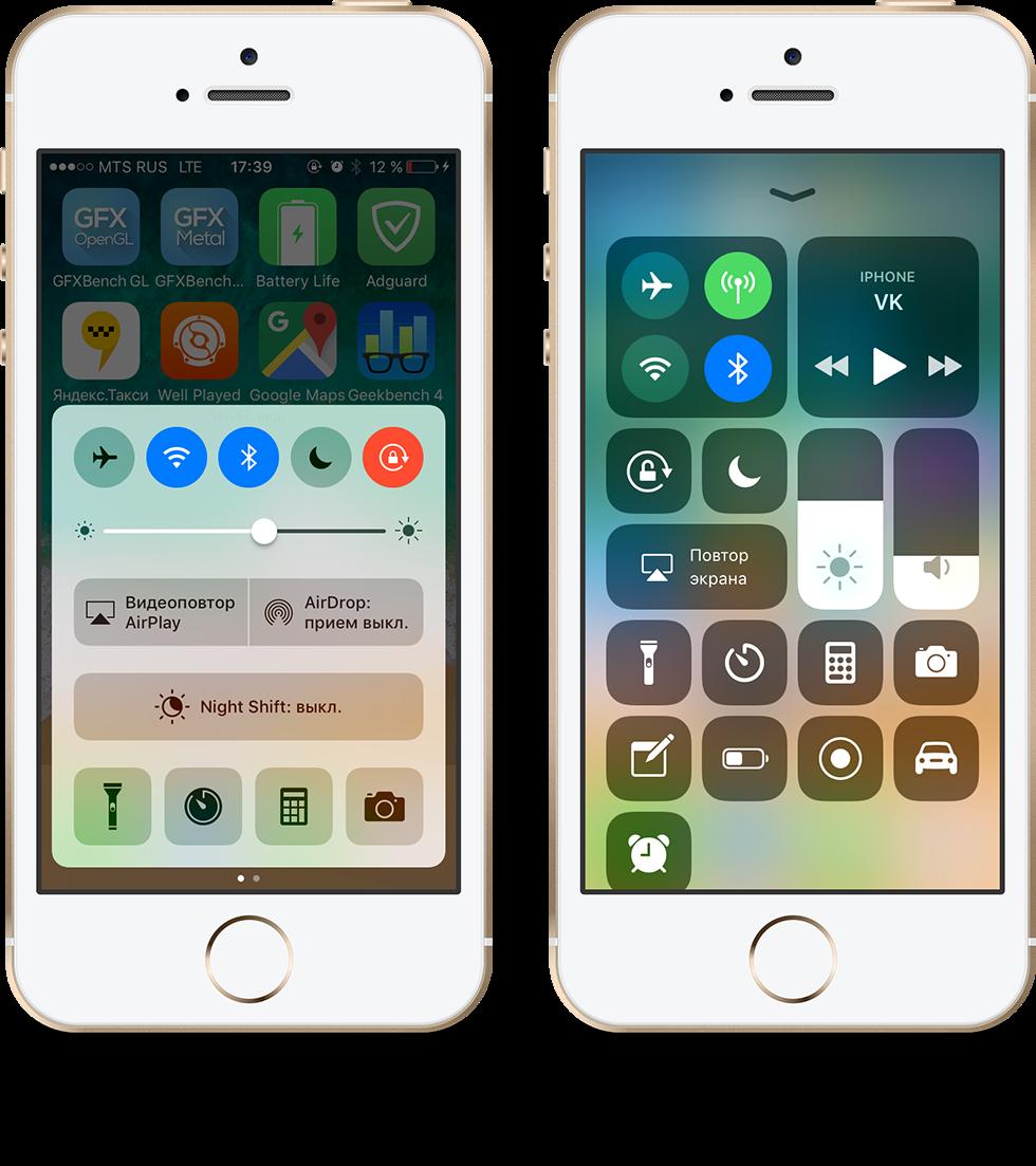Обновления для iPhone 5s, iPhone 6